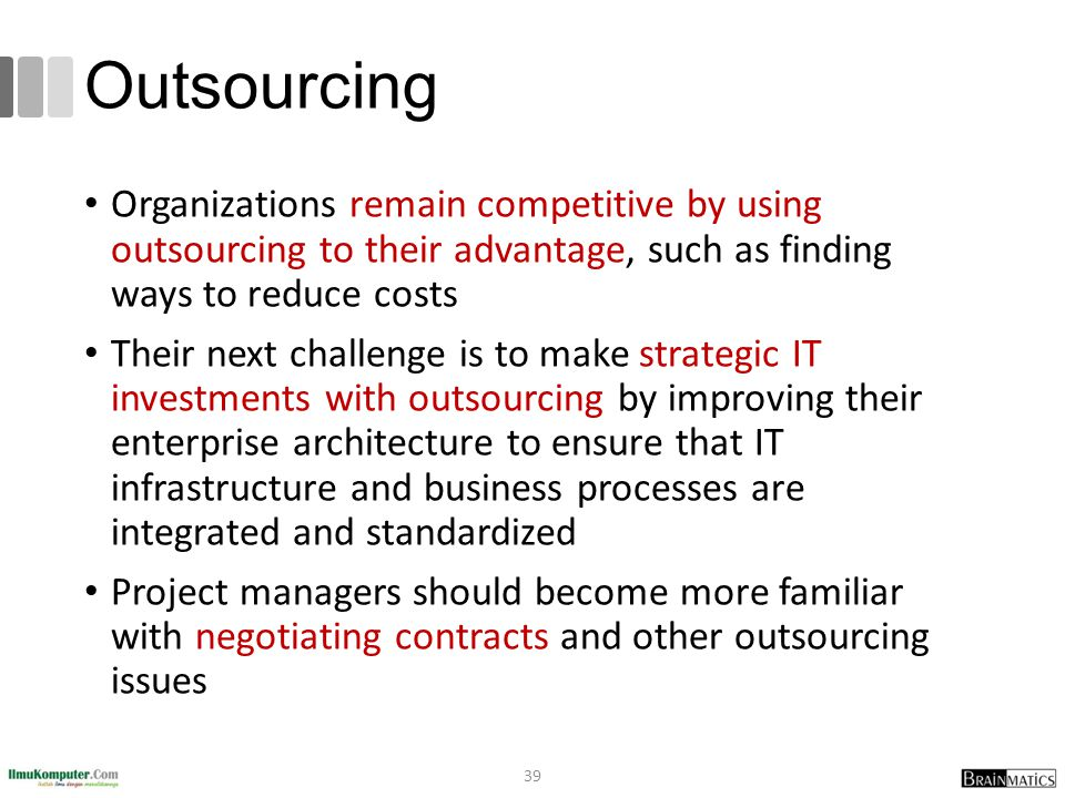 a report on outsourcing and its advantages in enhancing projects for it managers China's emerging role in global outsourcing inc report forecasts china's it outsourcing growth to soar 30 has enough senior project managers.