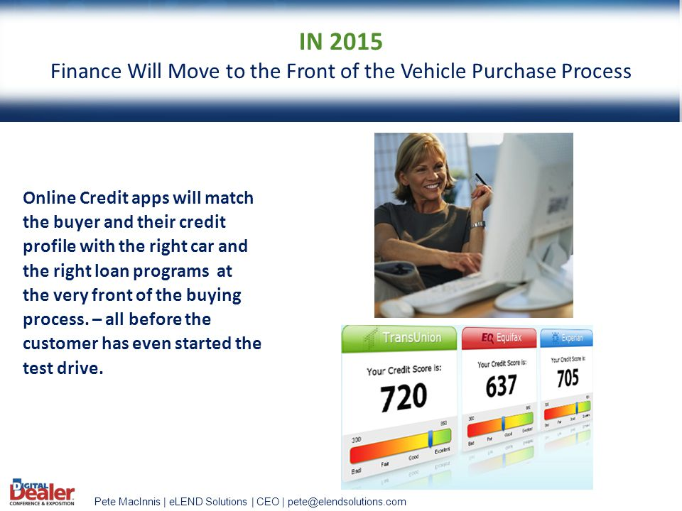 Finance Will Move to the Front of the Vehicle Purchase Process