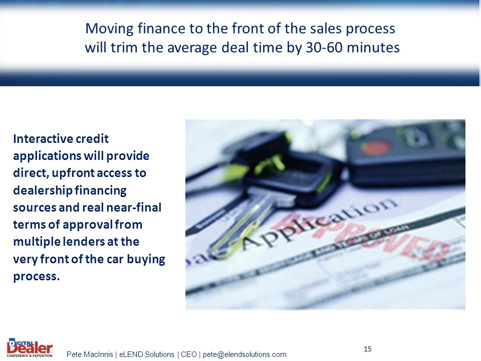 Moving finance to the front of the sales process