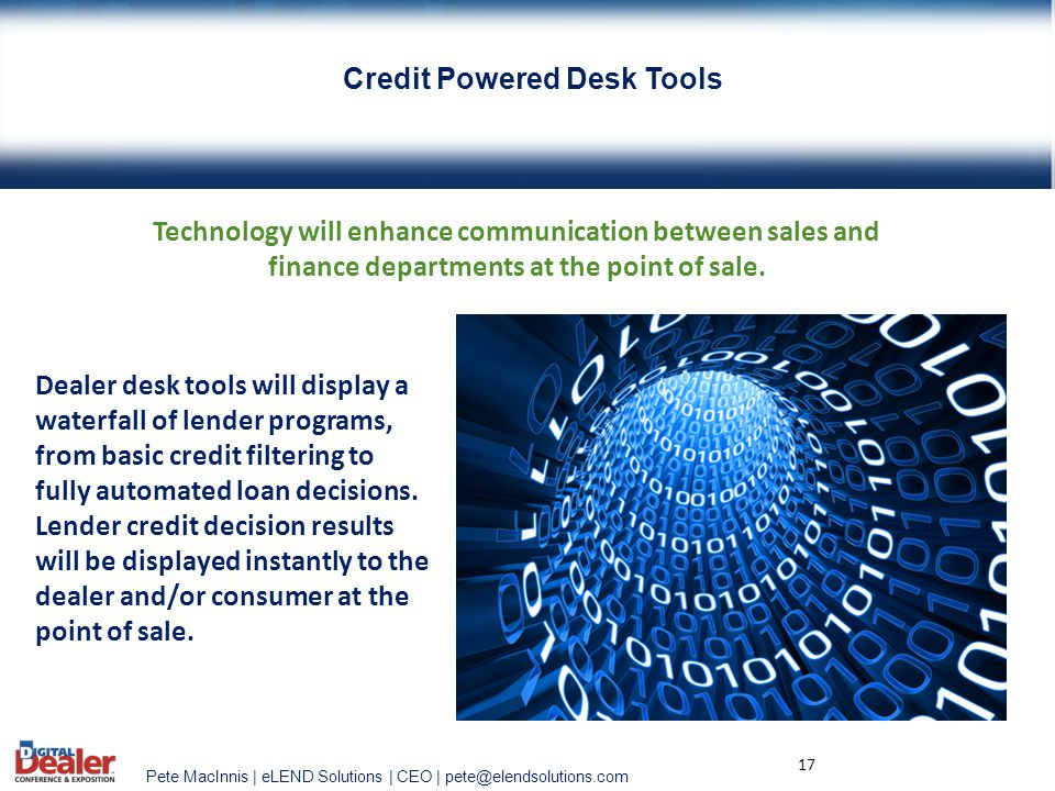 Credit Powered Desk Tools