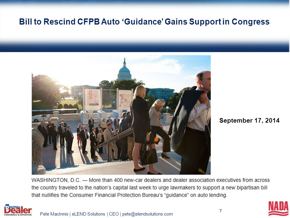 Bill to Rescind CFPB Auto 'Guidance' Gains Support in Congress