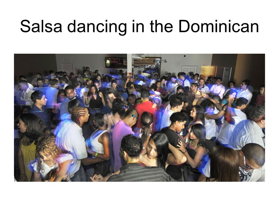 Salsa dancing in the Dominican
