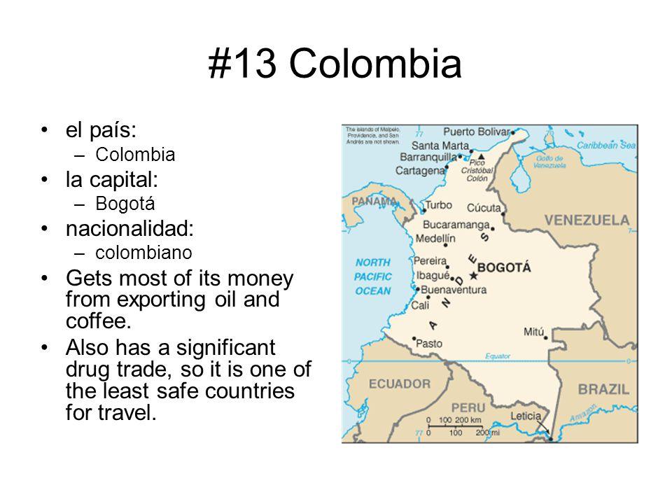 #13 Colombia el país: la capital: nacionalidad: