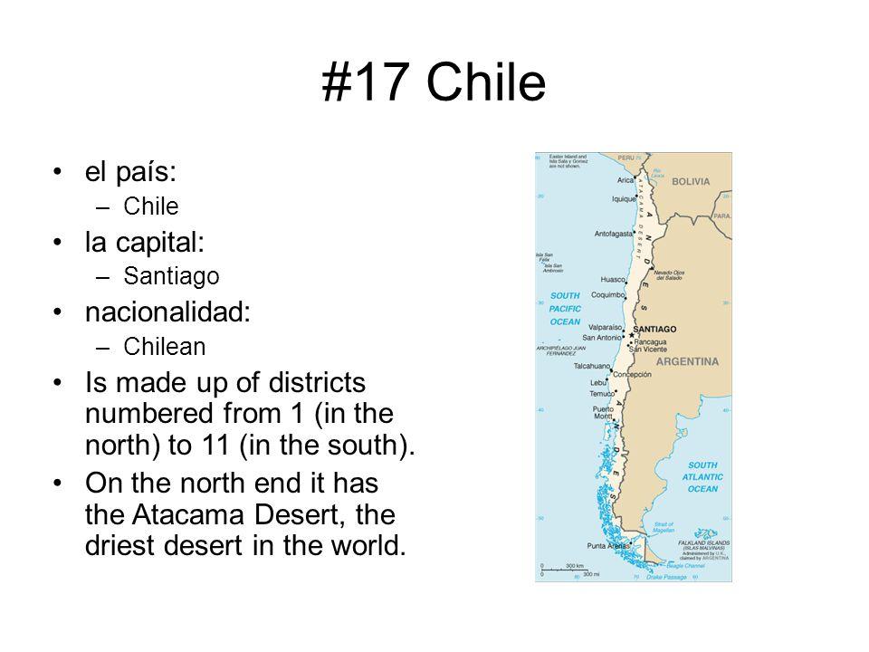 #17 Chile el país: la capital: nacionalidad: