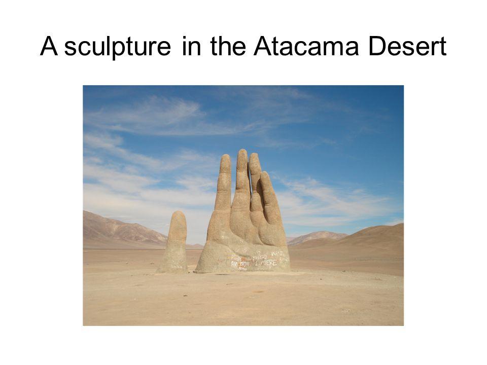 A sculpture in the Atacama Desert