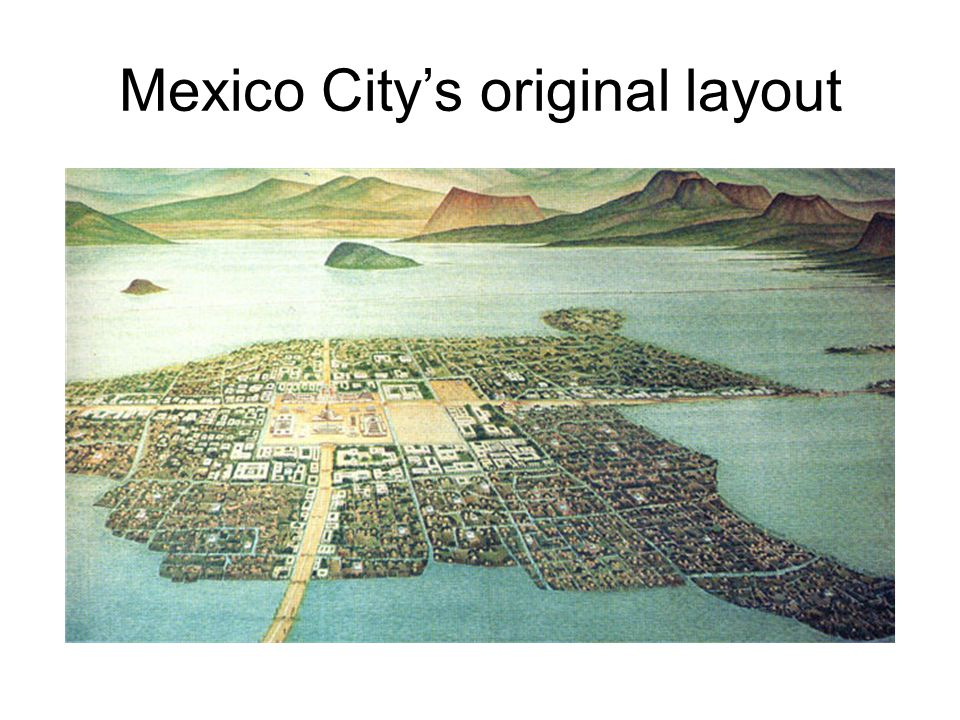 Mexico City's original layout