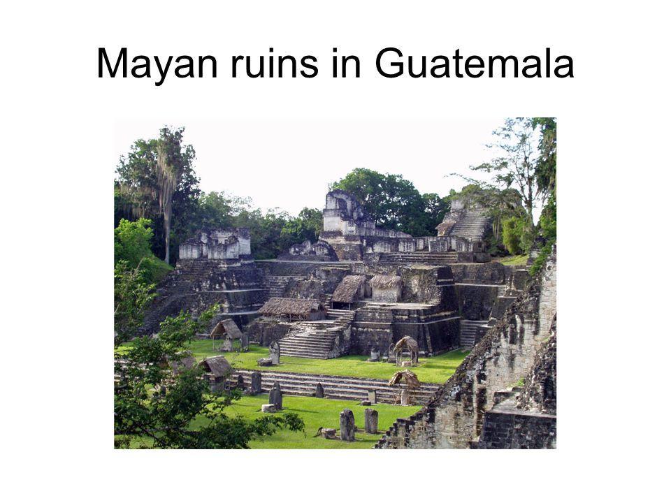Mayan ruins in Guatemala