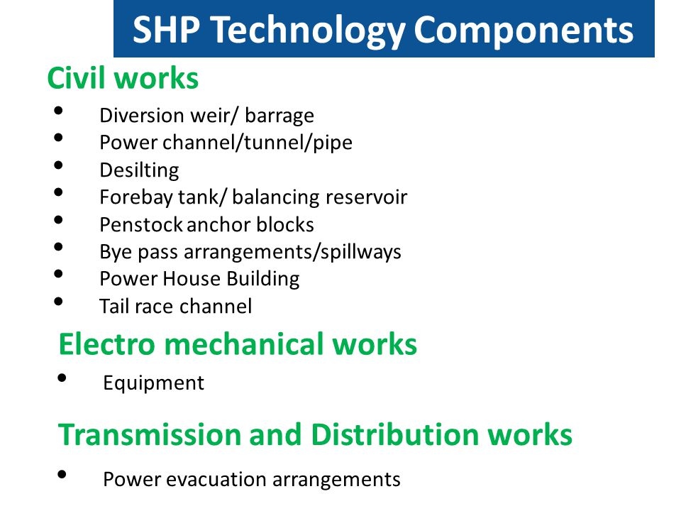 SHP Technology Components