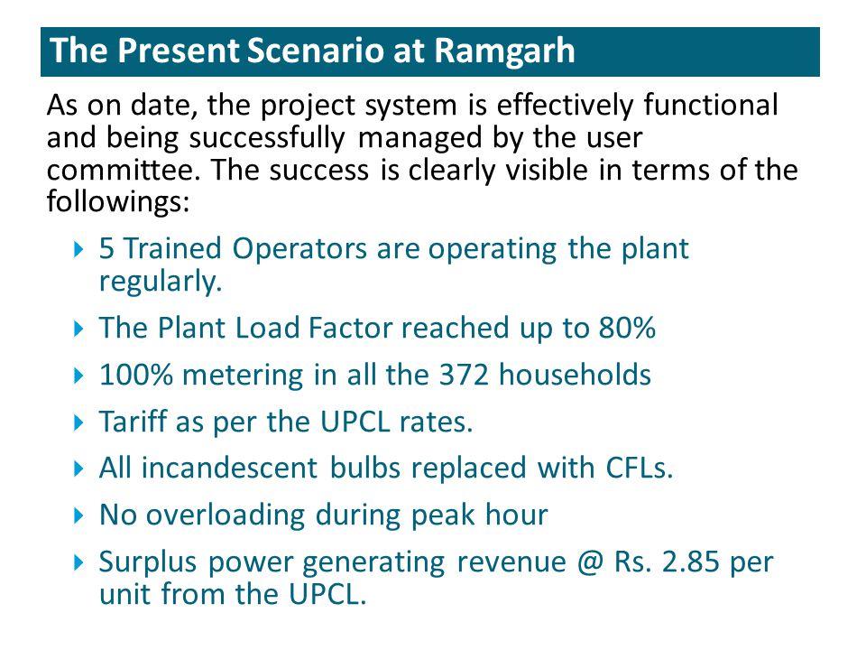 The Present Scenario at Ramgarh