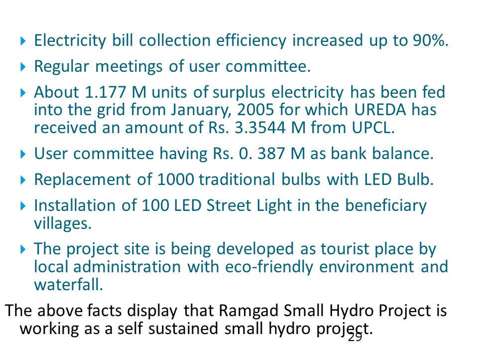 Electricity bill collection efficiency increased up to 90%.