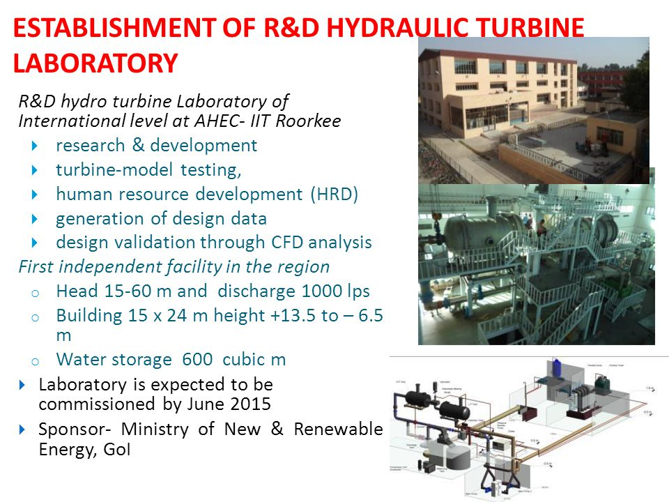 ESTABLISHMENT OF R&D HYDRAULIC TURBINE LABORATORY