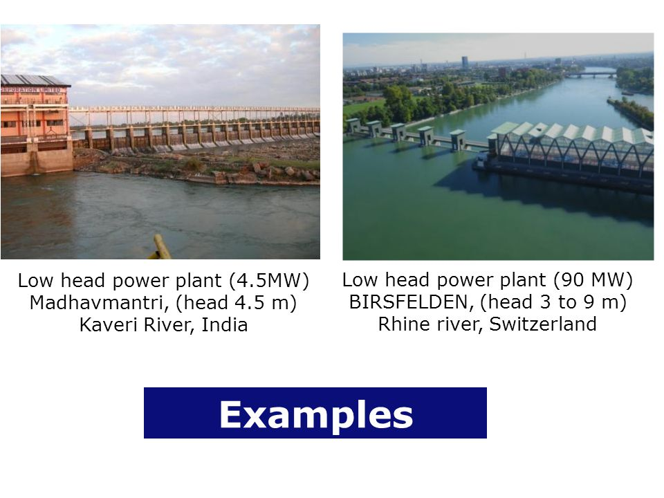 Low head power plant (4. 5MW) Madhavmantri, (head 4