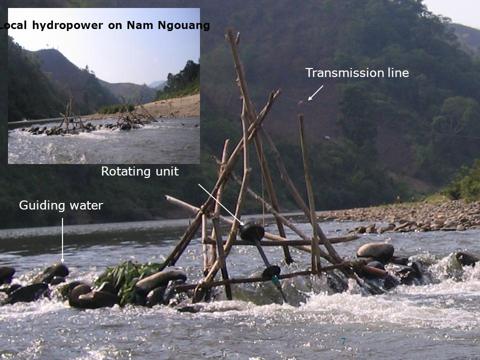 Local hydropower on Nam Ngouang