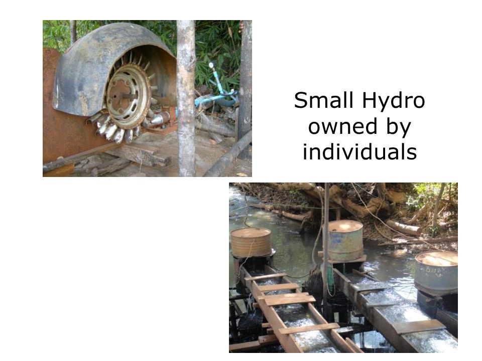 Small Hydro owned by individuals