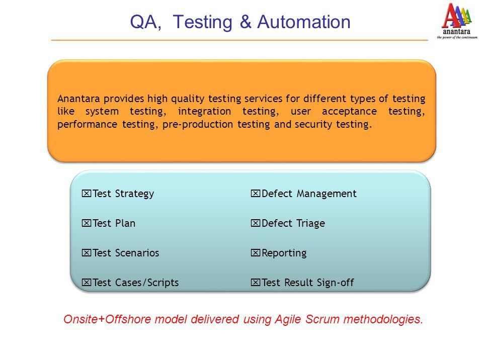 QA, Testing & Automation