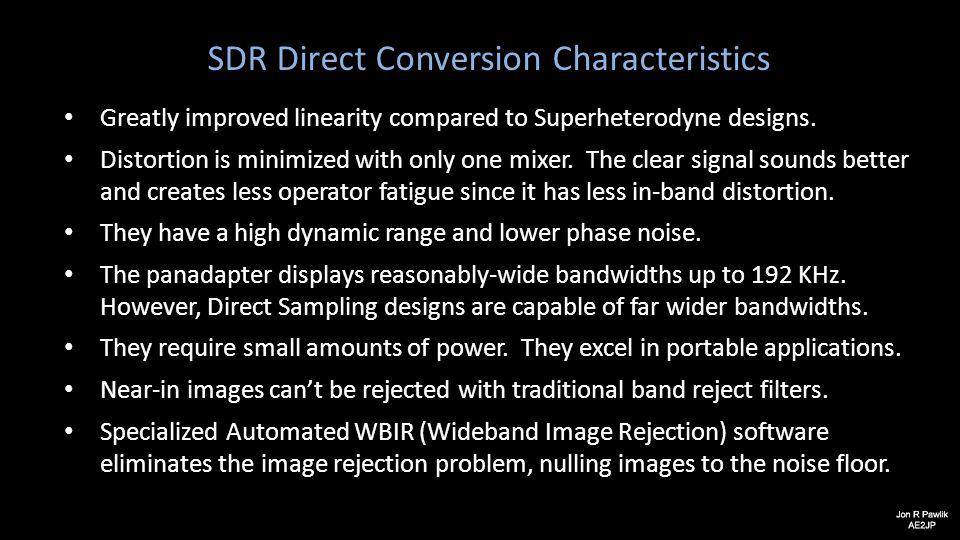 SDR Direct Conversion Characteristics