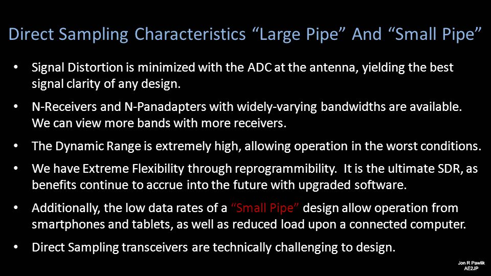 Direct Sampling Characteristics Large Pipe And Small Pipe
