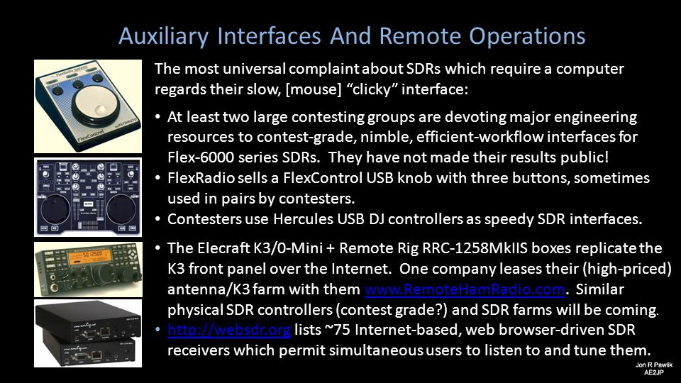 Auxiliary Interfaces And Remote Operations