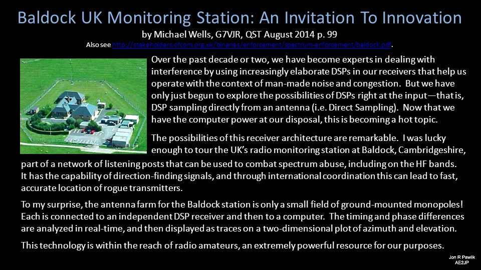 Baldock UK Monitoring Station: An Invitation To Innovation