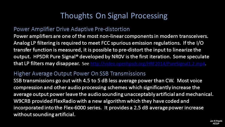 Thoughts On Signal Processing