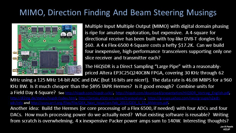 MIMO, Direction Finding And Beam Steering Musings