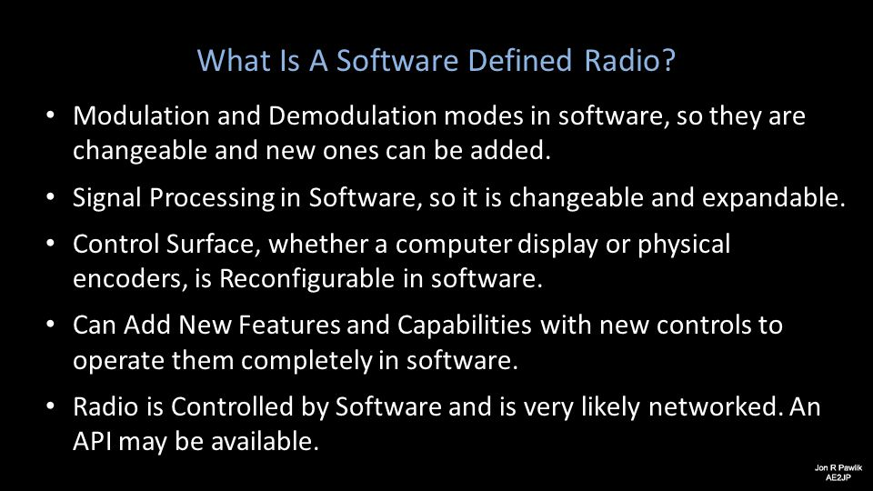 What Is A Software Defined Radio