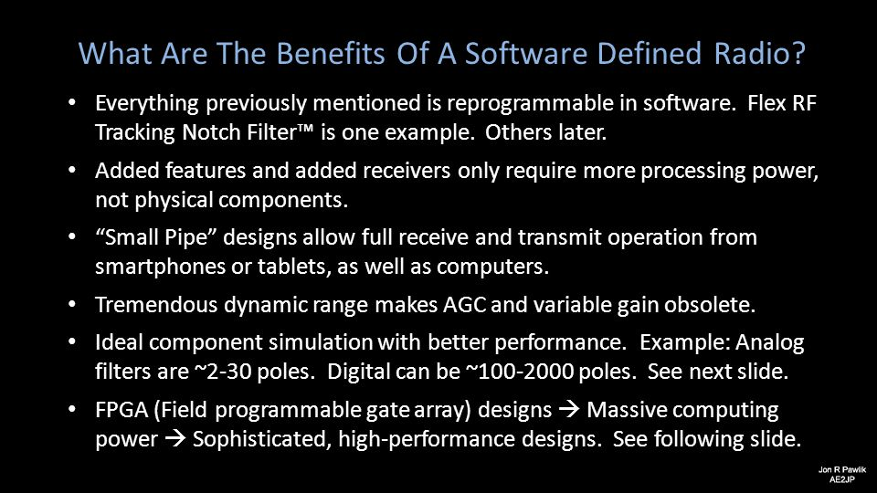 What Are The Benefits Of A Software Defined Radio