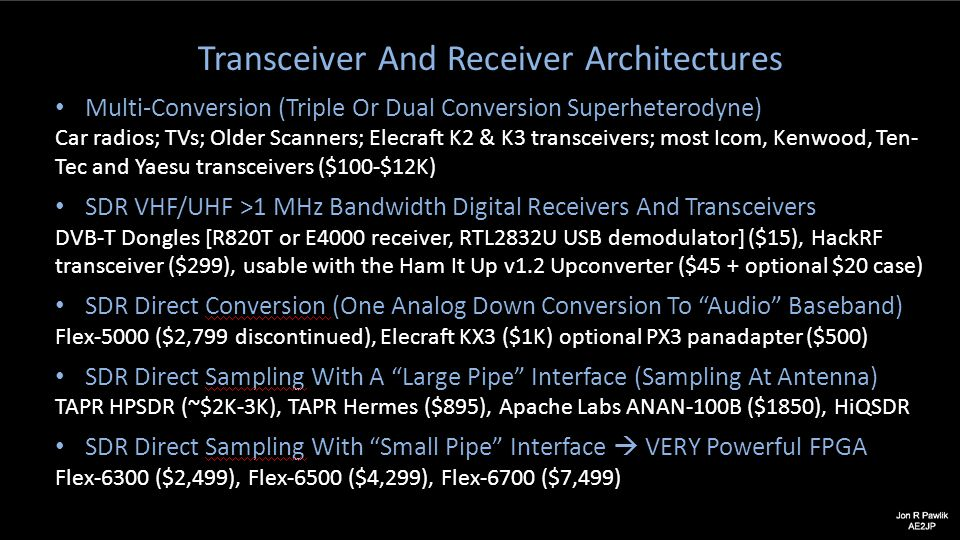 Transceiver And Receiver Architectures