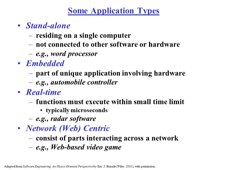 Some Application Types