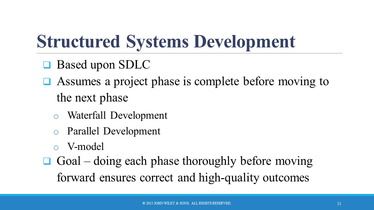 Structured Systems Development