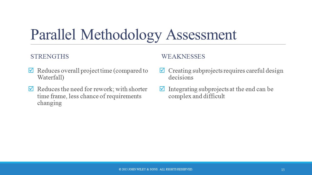 Parallel Methodology Assessment