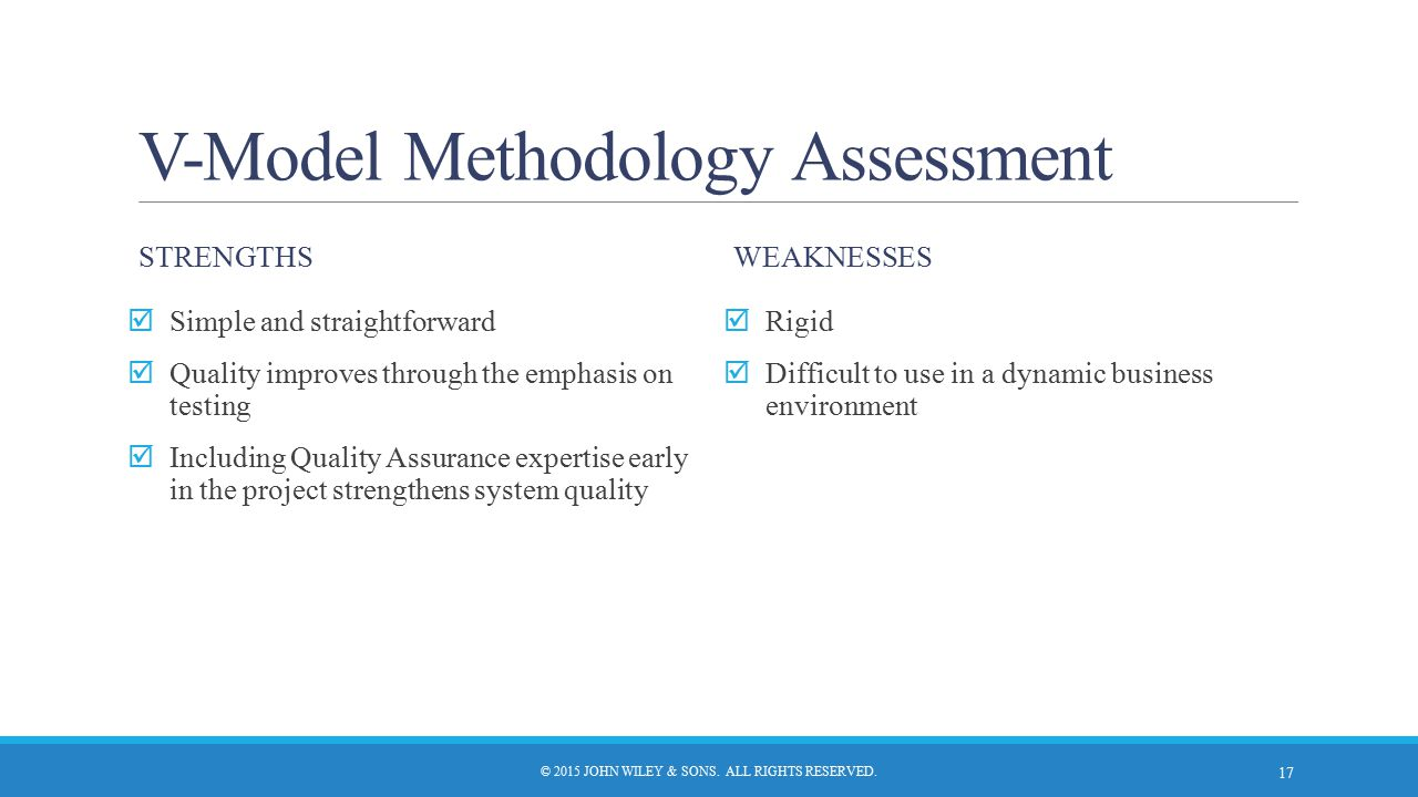 V-Model Methodology Assessment
