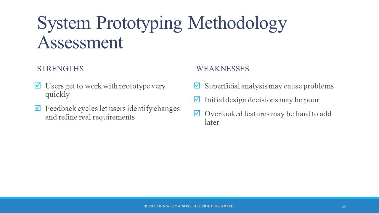 System Prototyping Methodology Assessment
