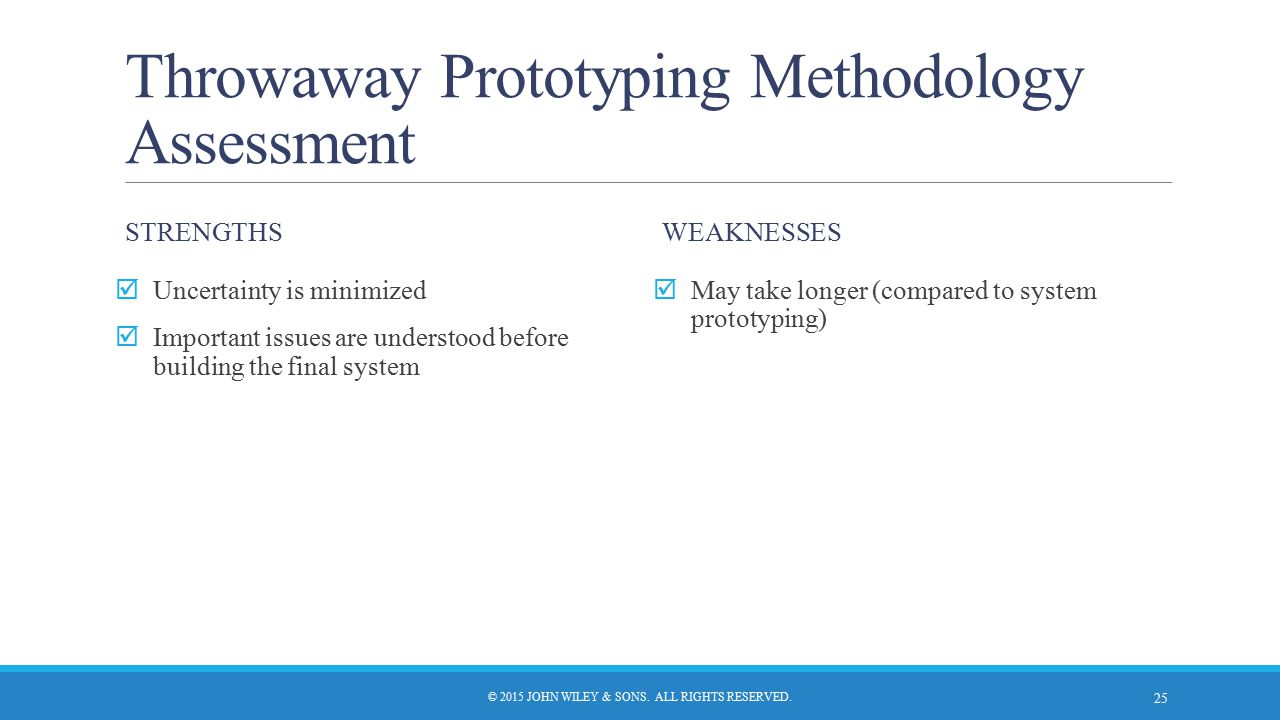 Throwaway Prototyping Methodology Assessment