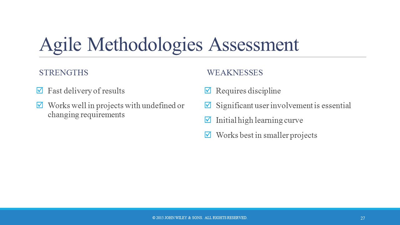 Agile Methodologies Assessment