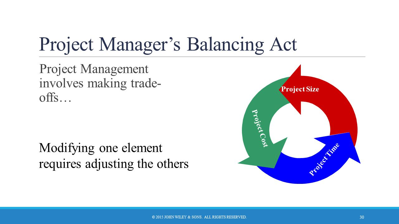Project Manager's Balancing Act