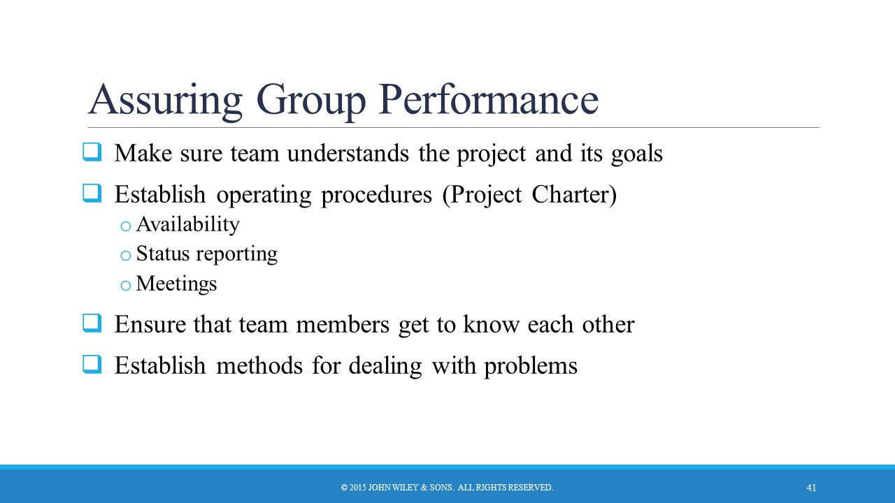 Assuring Group Performance