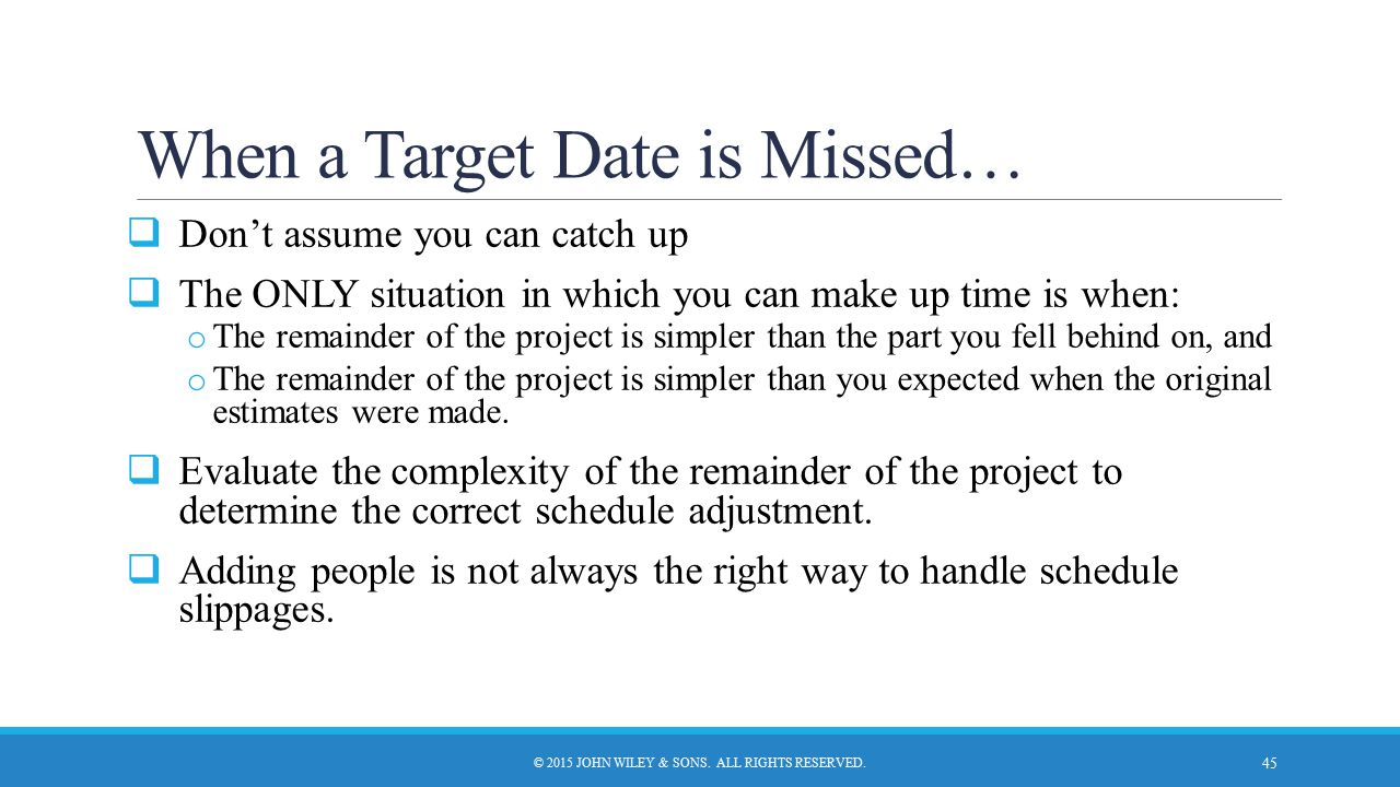 When a Target Date is Missed…