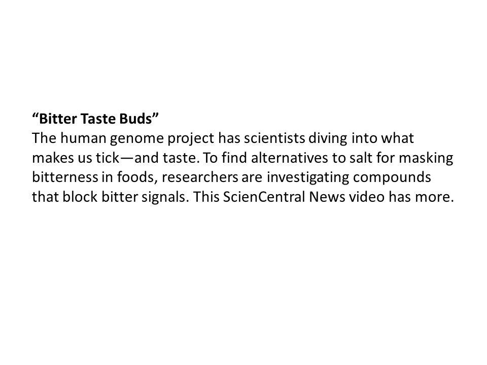 Bitter Taste Buds