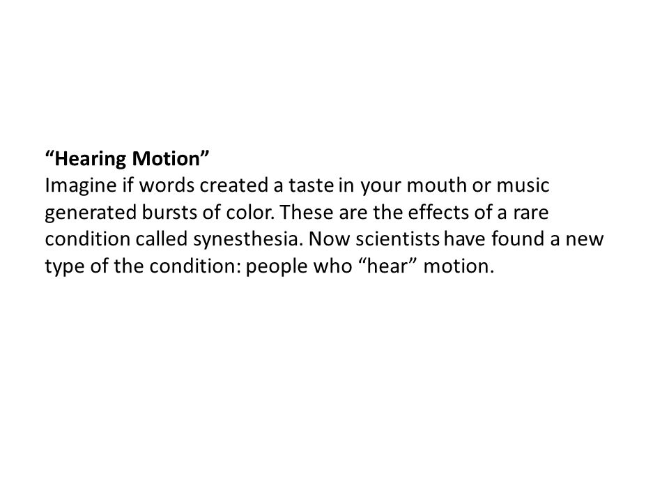 Hearing Motion
