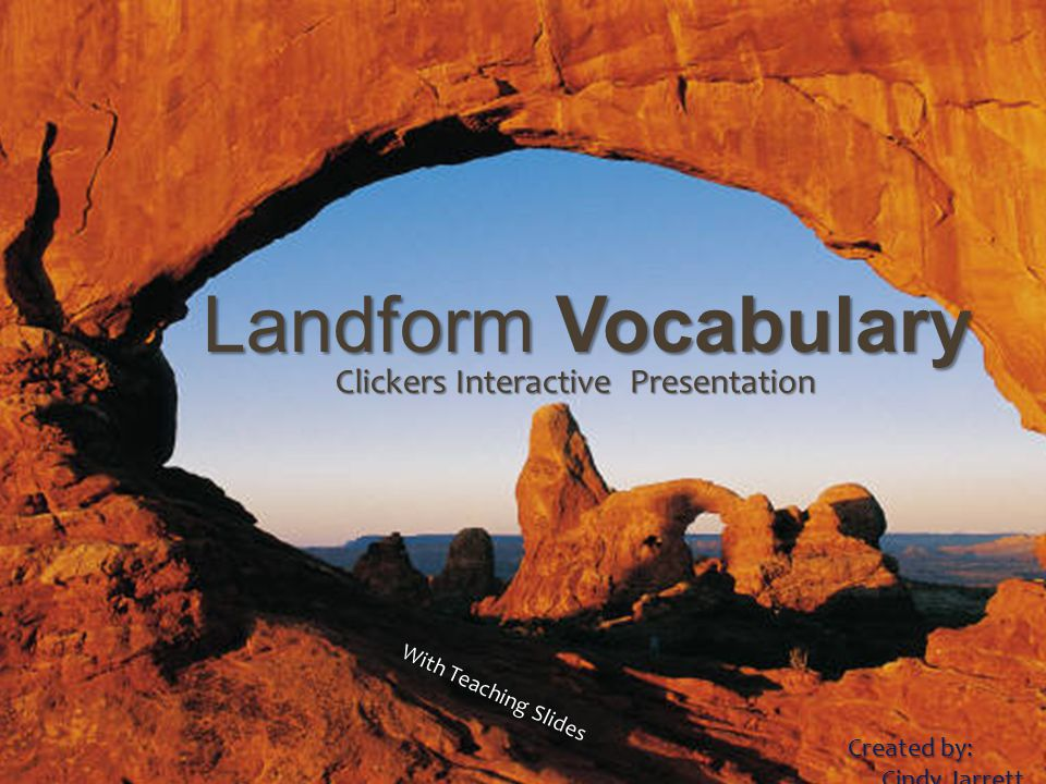 Landforms Vocabulary Landform Vocabulary