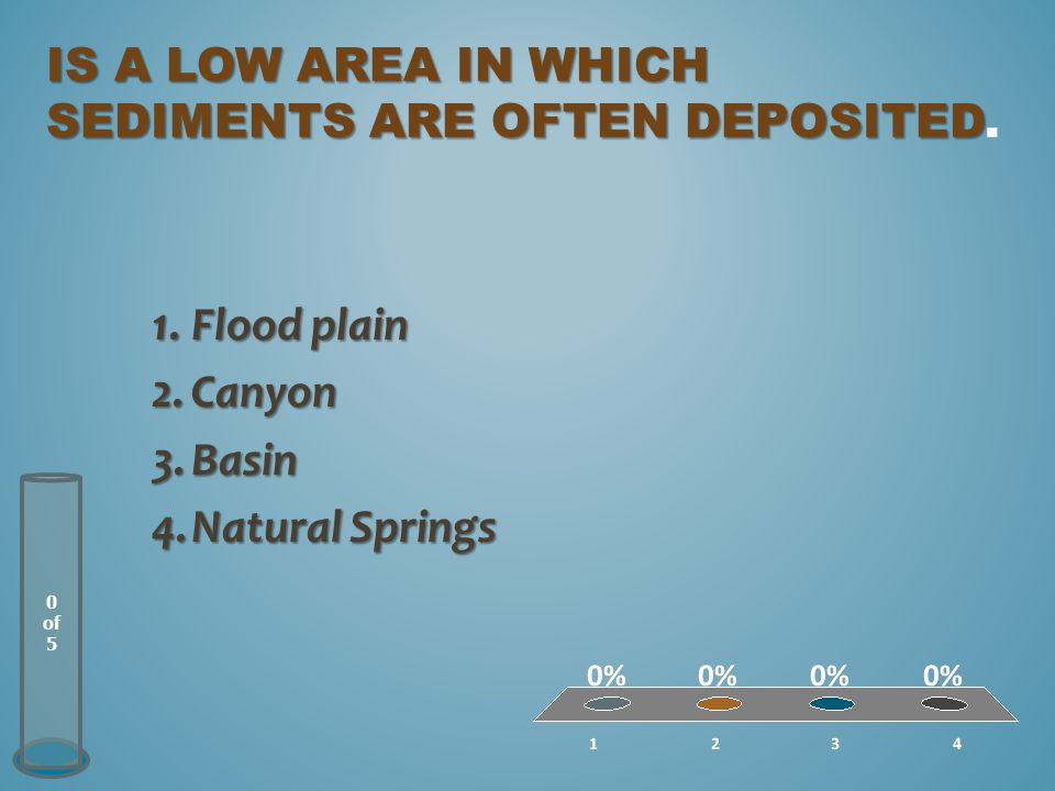 is a low area in which Sediments are often deposited.