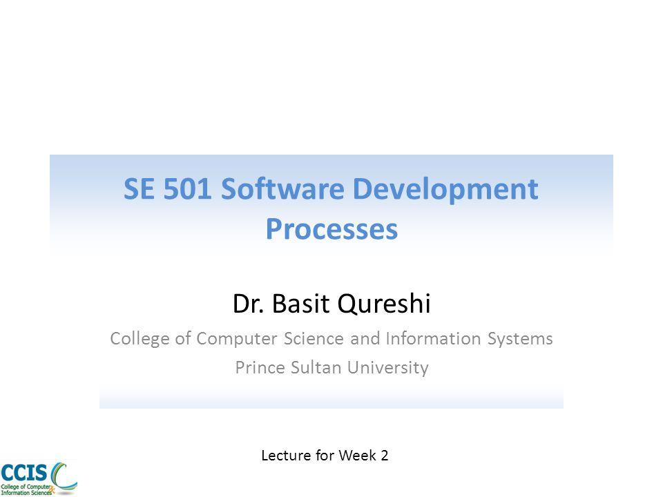 SE 501 Software Development Processes