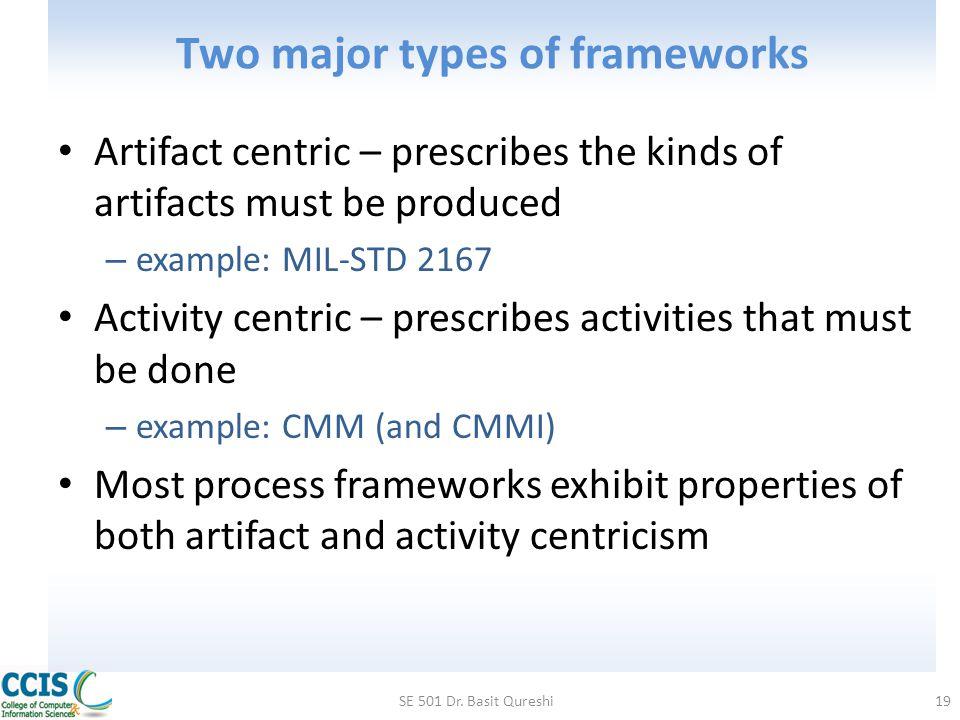 Two major types of frameworks