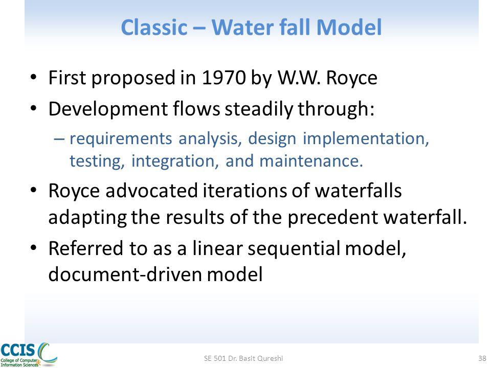 Classic – Water fall Model