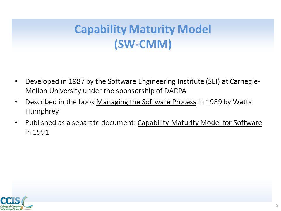 Capability Maturity Model (SW-CMM)