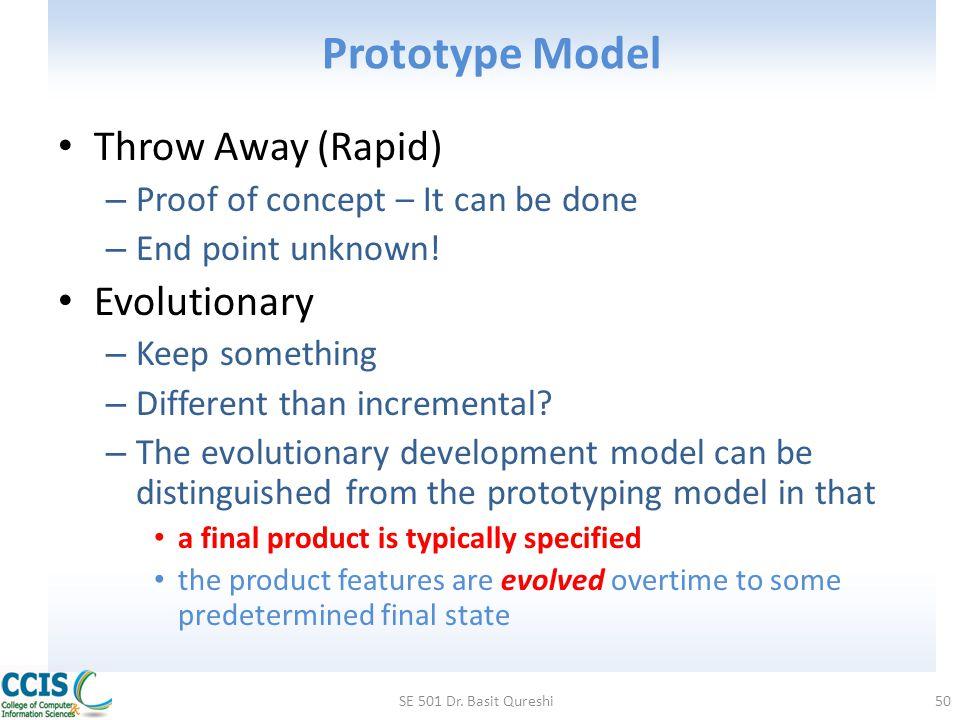 Prototype Model Throw Away (Rapid) Evolutionary
