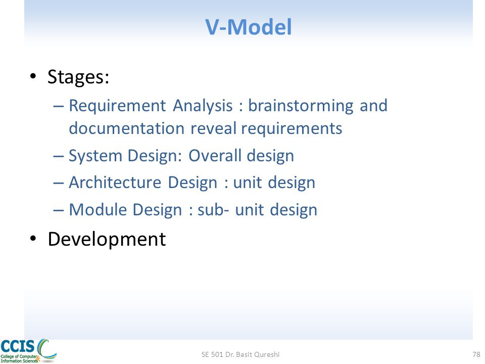 V-Model Stages: Development