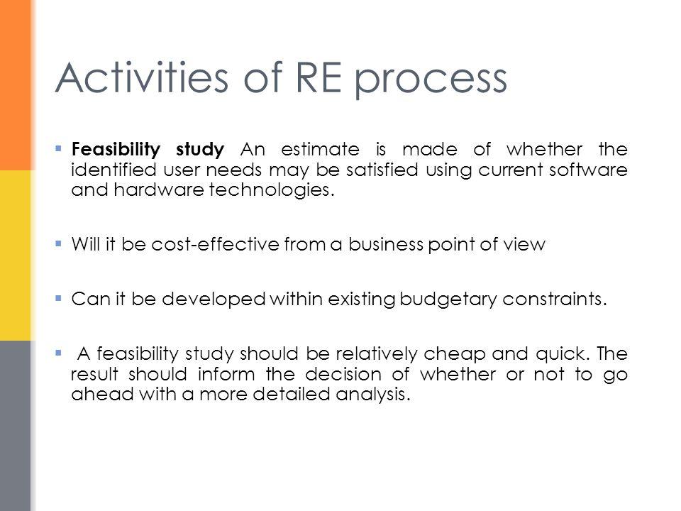 Activities of RE process