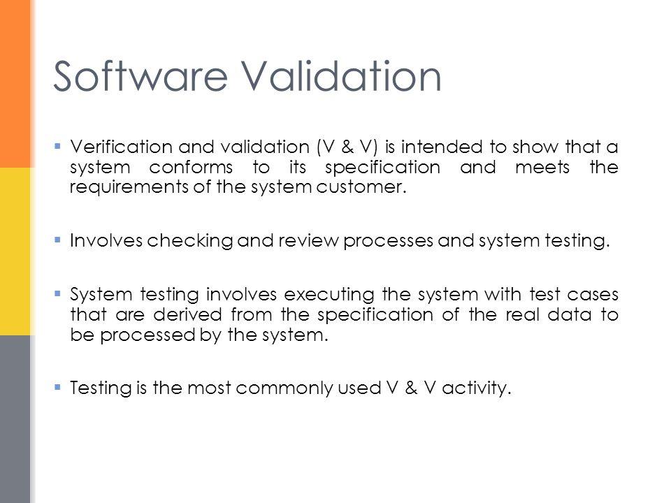 Software Validation